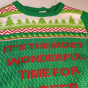 Spencer's Ugly Christmas Sweater Beer Pong 2XL